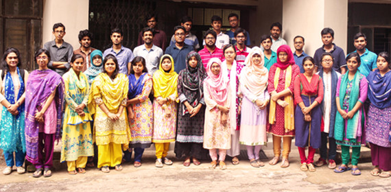 this is a pic of current students of BUET IWFM